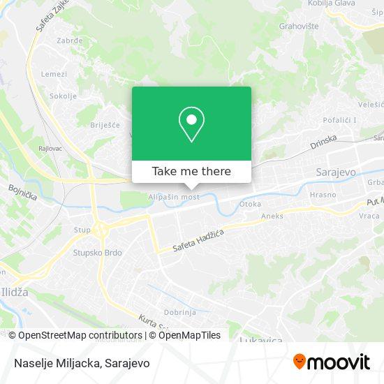Naselje Miljacka map