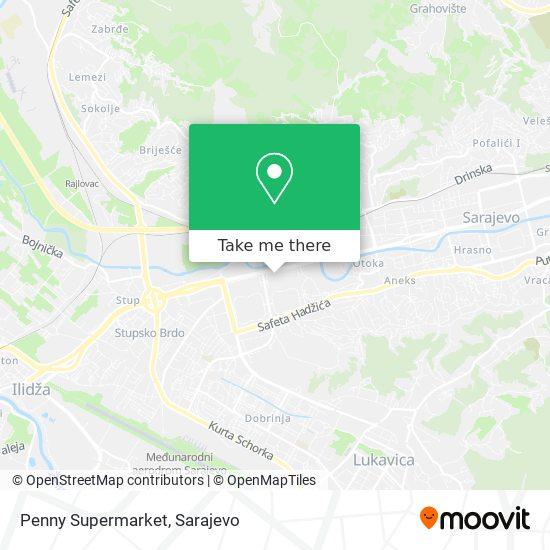 Penny Supermarket map