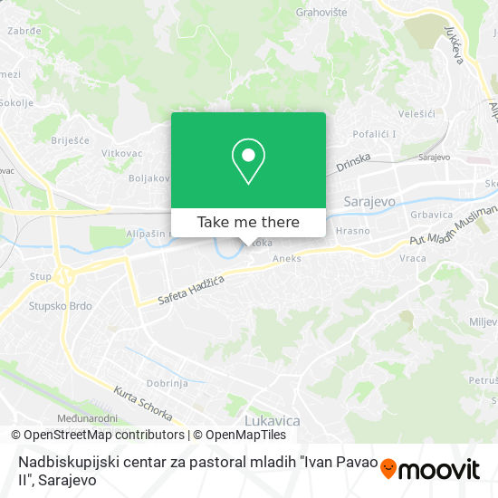 "Nadbiskupijski centar za pastoral mladih ""Ivan Pavao II"" map"