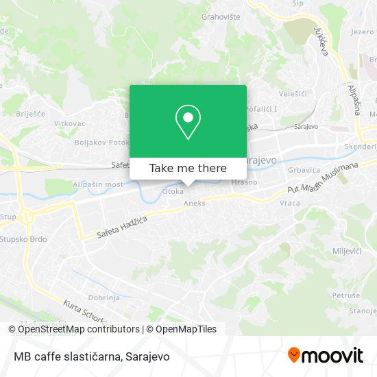 MB caffe slastičarna map