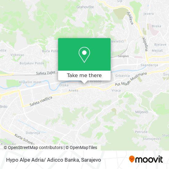 Hypo Alpe Adria/ Adicco Banka map