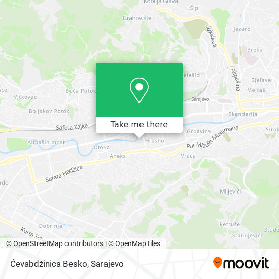 Ćevabdžinica Besko map