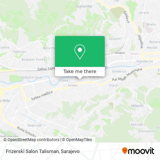 Frizerski Salon Talisman map