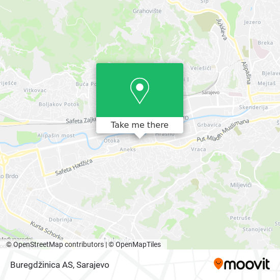Buregdžinica AS map
