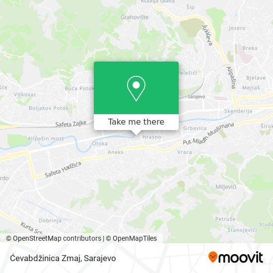 Ćevabdžinica Zmaj map