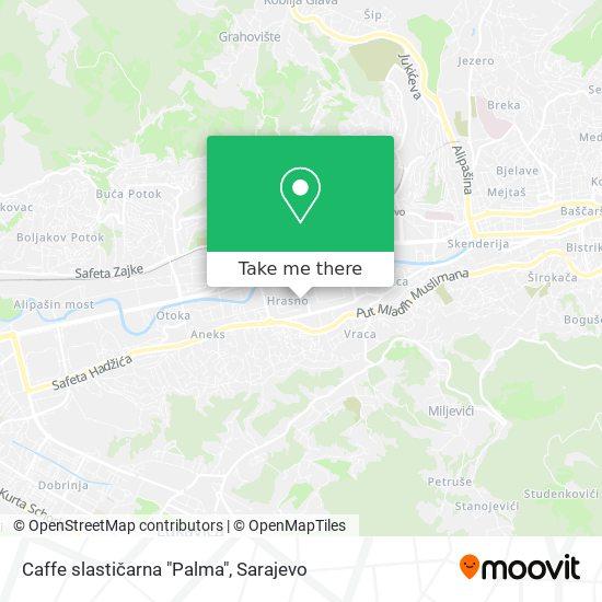 """Caffe slastičarna """"Palma"""" map"""