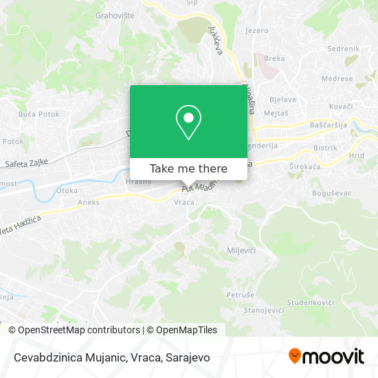 Cevabdzinica Mujanic, Vraca map