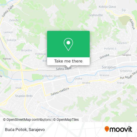 Buća Potok map