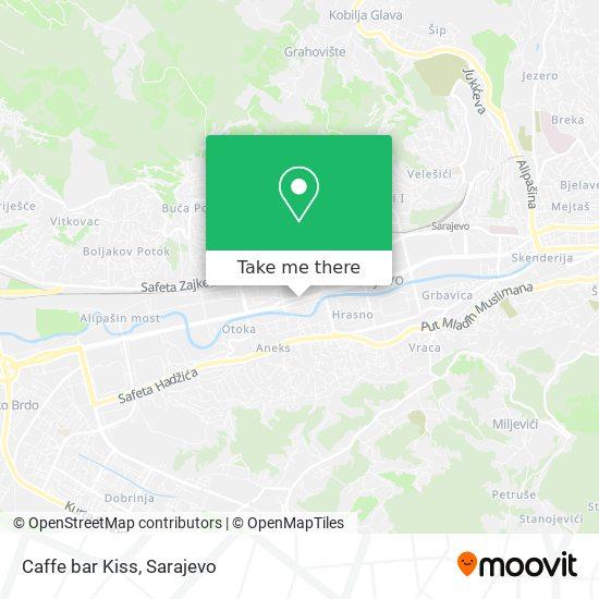 Caffe bar Kiss map