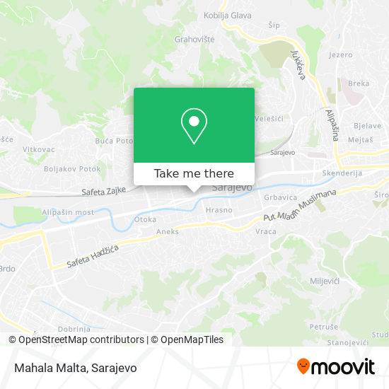 Mahala Malta map