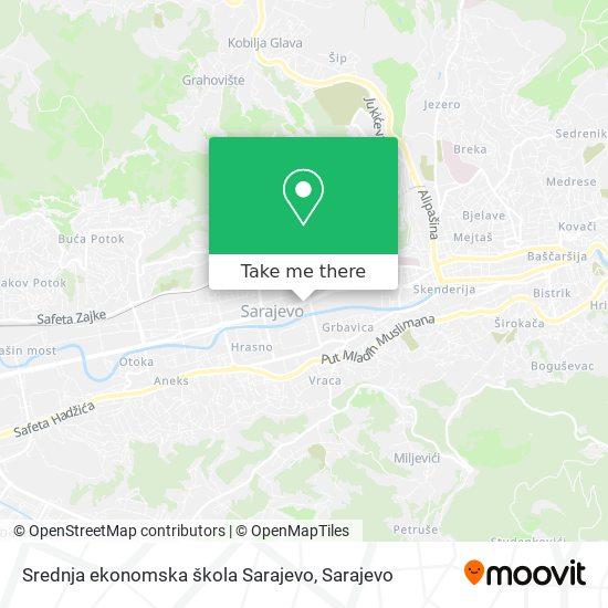 Srednja ekonomska škola Sarajevo map