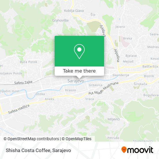 Shisha Costa Coffee map