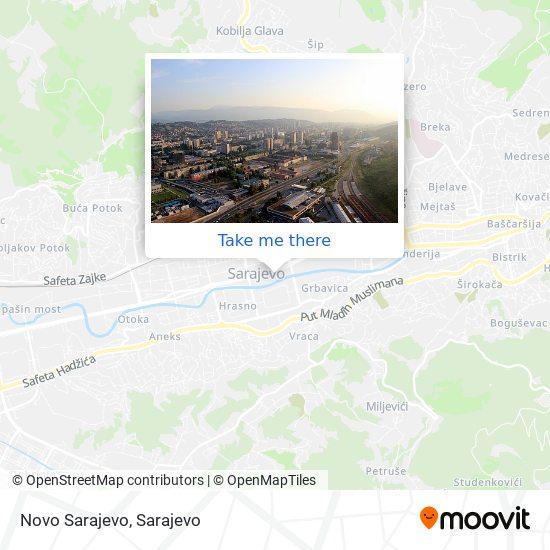 Novo Sarajevo map