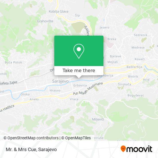 Mr. & Mrs Cue map