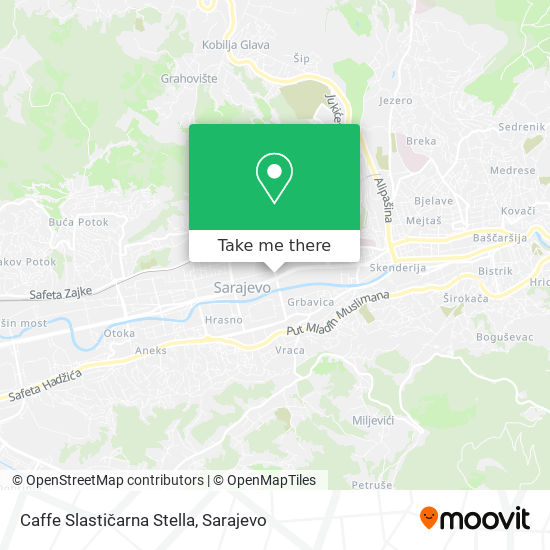 Caffe Slastičarna Stella map