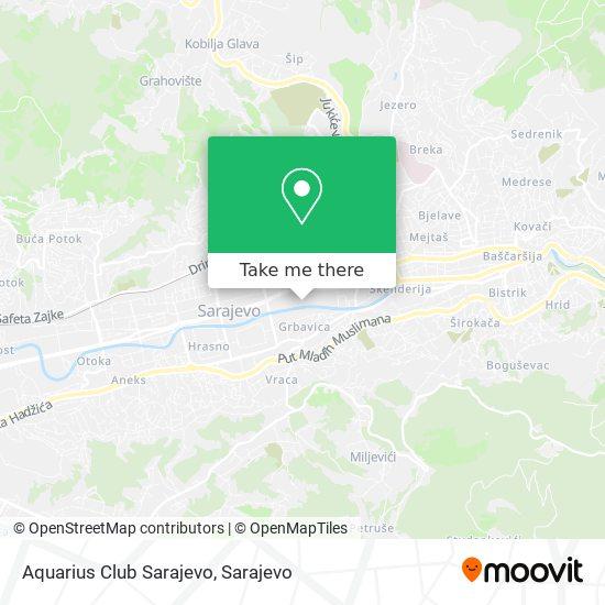 Aquarius Club Sarajevo map