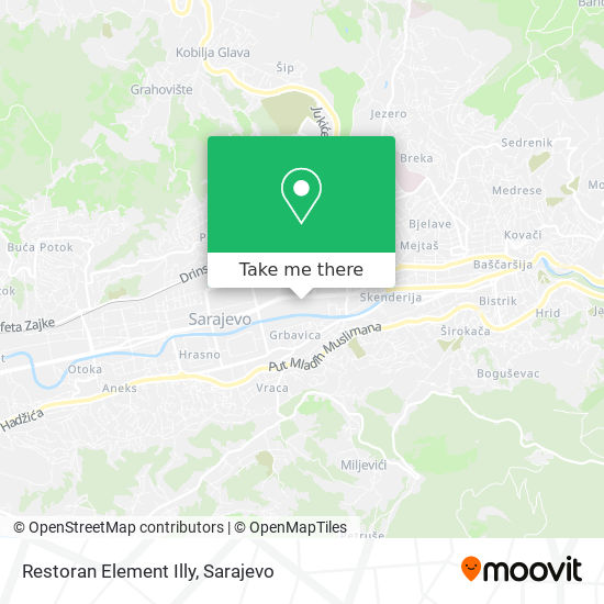 Restoran Element Illy map