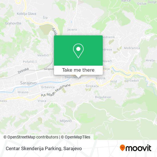 Centar Skenderija Parking map