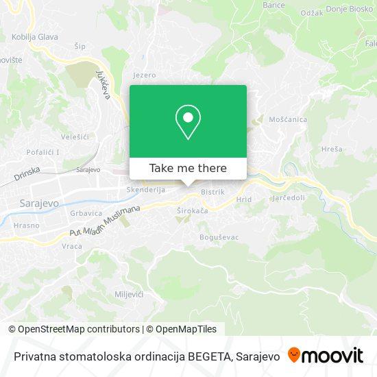 Privatna stomatoloska ordinacija BEGETA map