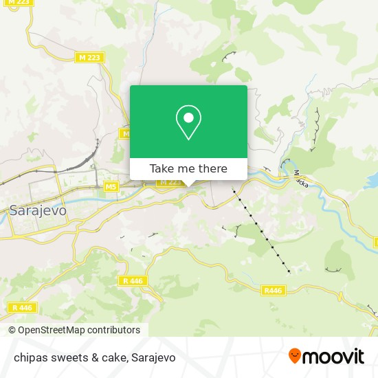chipas sweets & cake map