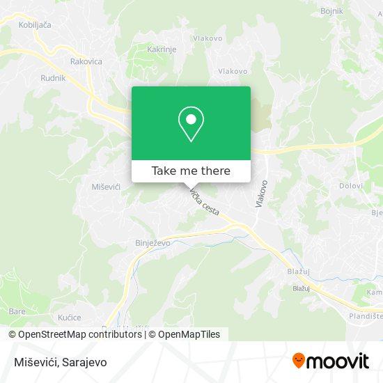Miševići map