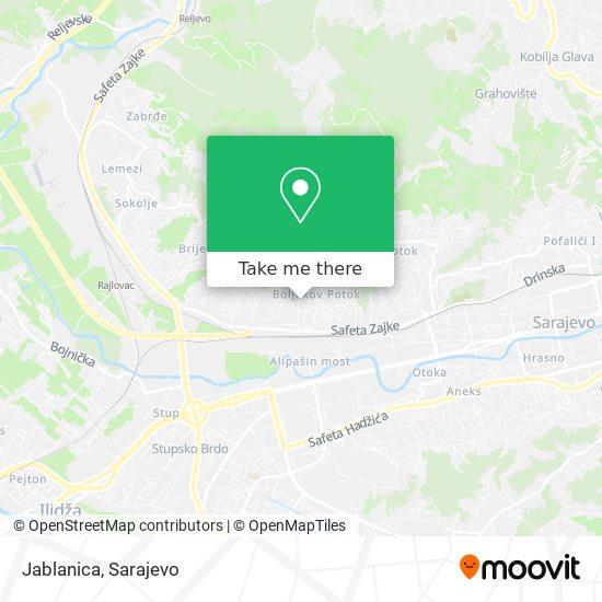 Jablanica map