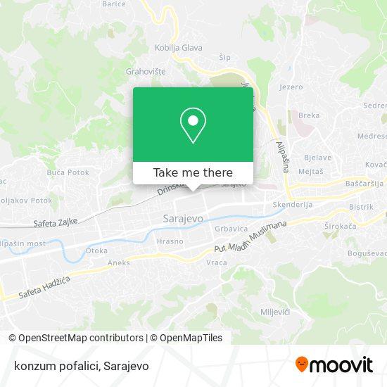 konzum pofalici map