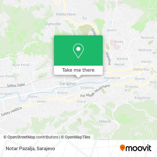 Notar Pazalja map