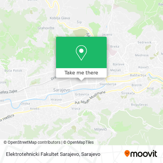 Elektrotehnicki Fakultet Sarajevo map