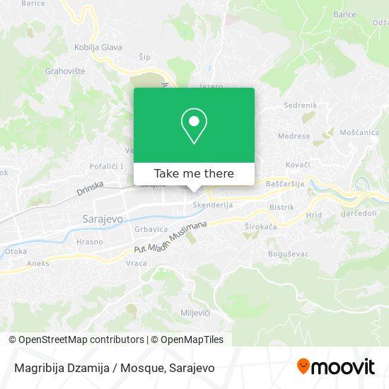 Magribija Dzamija / Mosque map