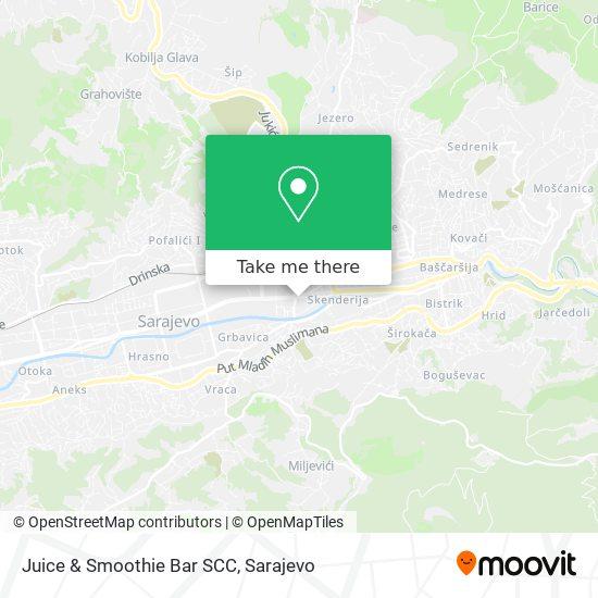 Juice & Smoothie Bar SCC map