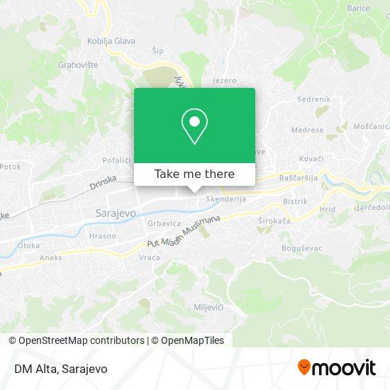 DM Alta map