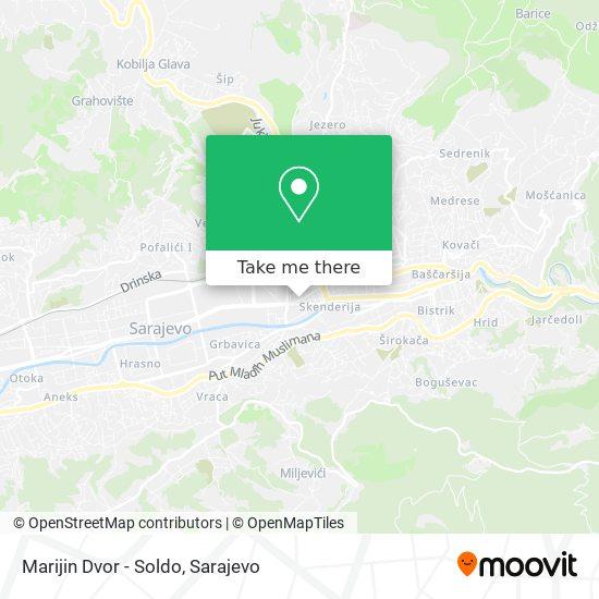 Marijin Dvor - Soldo map