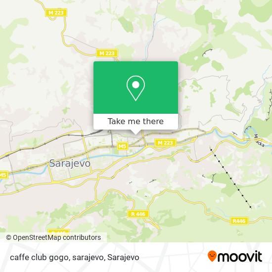 caffe club gogo, sarajevo map