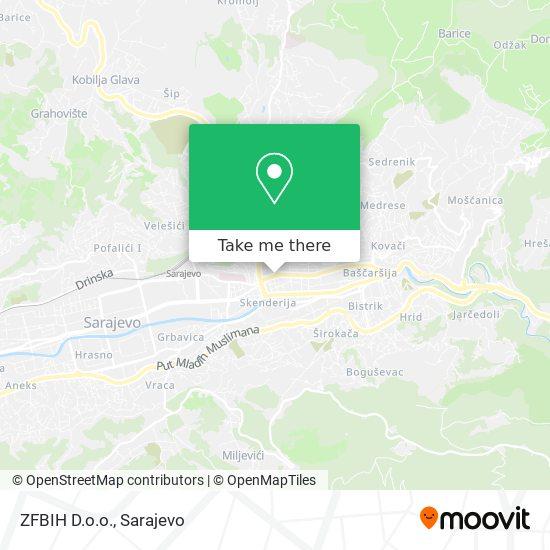 ZFBIH D.o.o. map