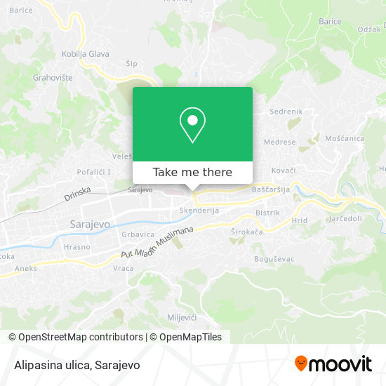 Alipasina ulica map