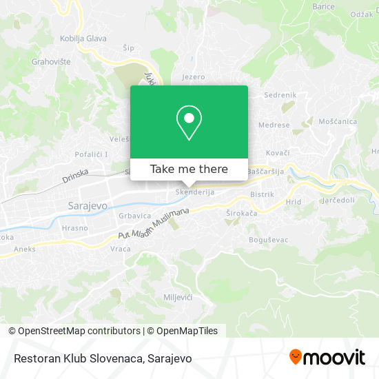 Restoran Klub Slovenaca map