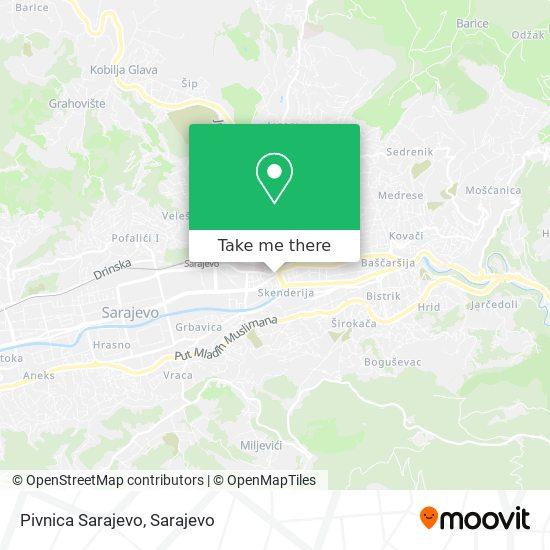 Pivnica Sarajevo map