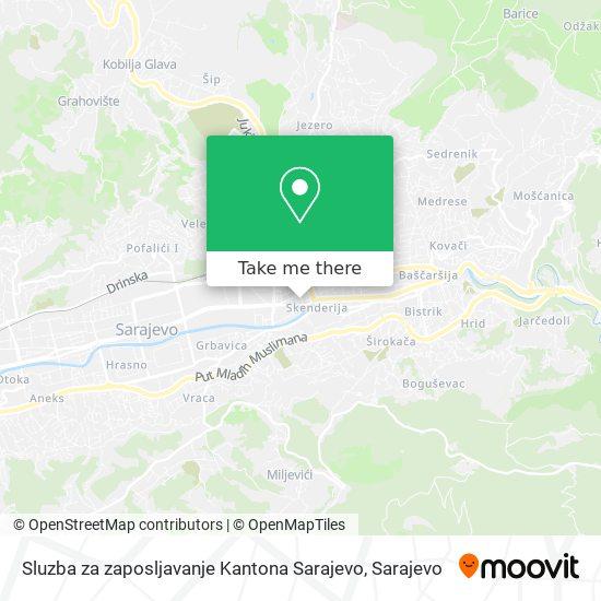Sluzba za zaposljavanje Kantona Sarajevo map