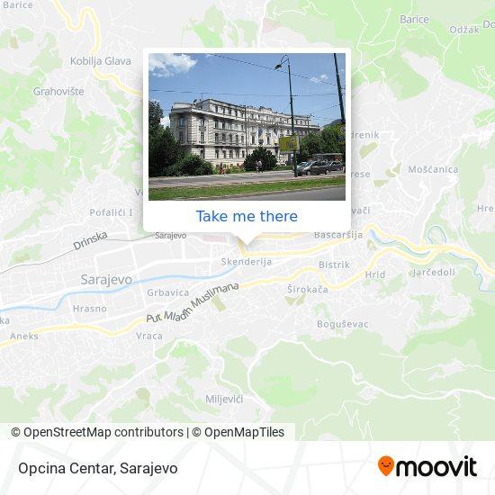 Opcina Centar map