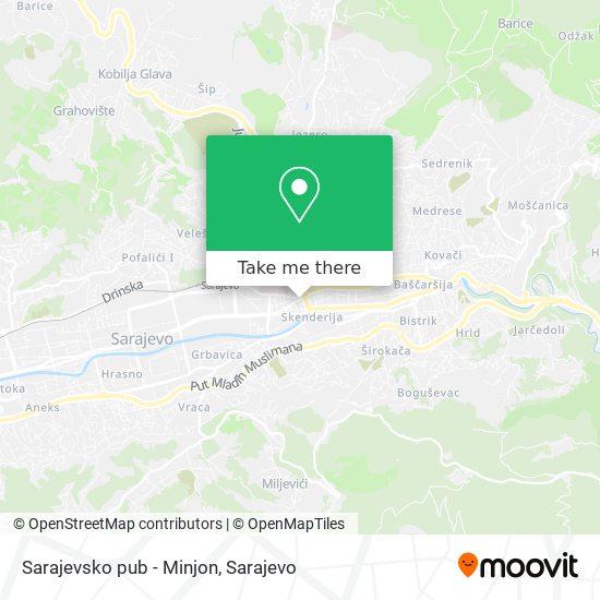 Sarajevsko pub - Minjon map