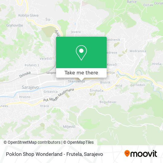 Poklon Shop Wonderland - Frutela map