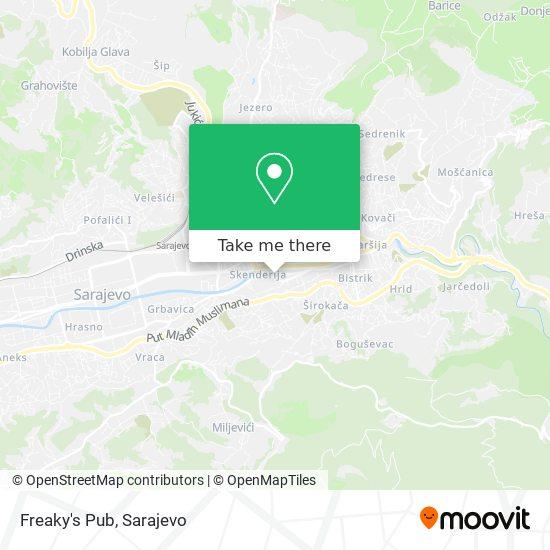 Freaky's Pub map