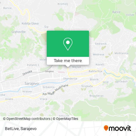 BetLive map