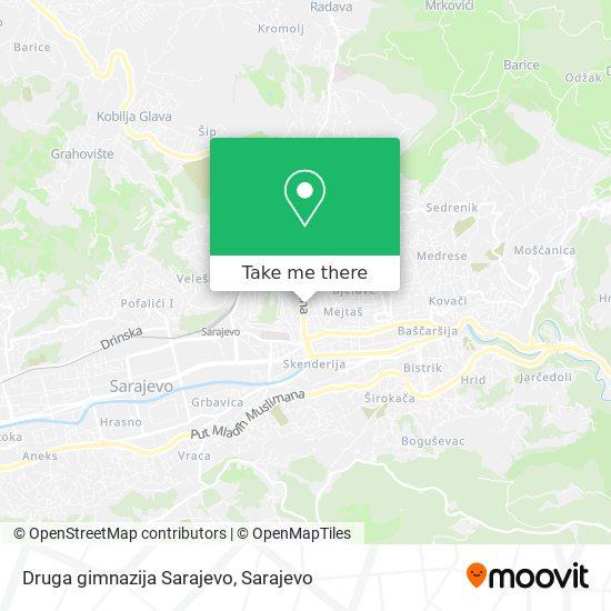 Druga gimnazija Sarajevo map