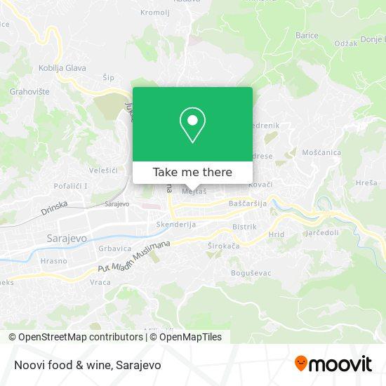 Noovi food & wine map