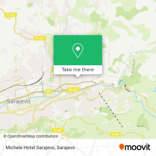 Michele Hotel Sarajevo map