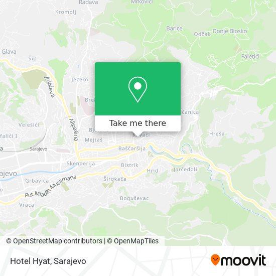 Hotel Hyat map