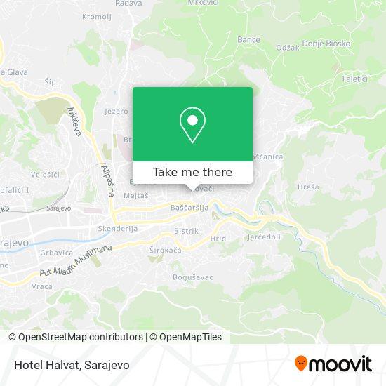 Hotel Halvat map