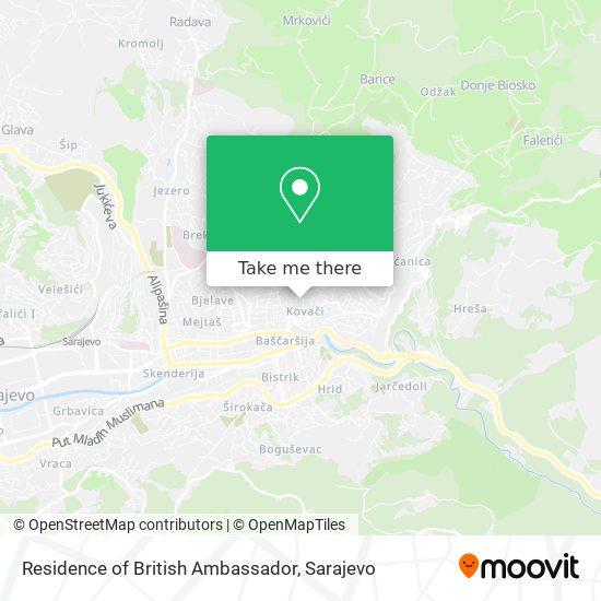 Residence of British Ambassador map